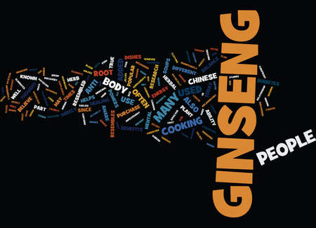 GINSENG Text Background Word Cloud Concept