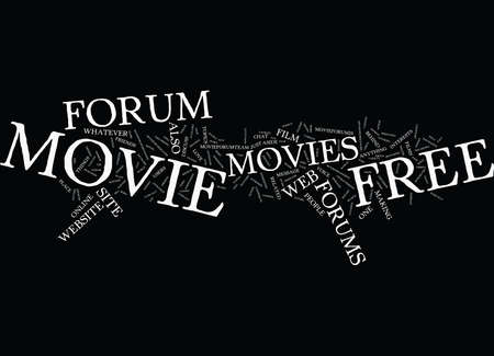 FREE MOVIE FORUM Text Background Word Cloud Concept