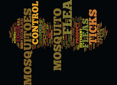 FLEA AND MOSQUITO CONTROL Text Background Word Cloud Concept