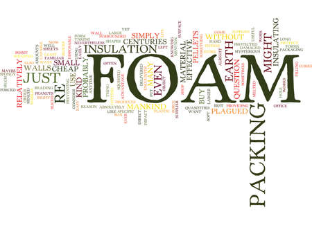 FOAM JUST WHAT ON EARTH IS IT Text Background Word Cloud Concept Ilustração