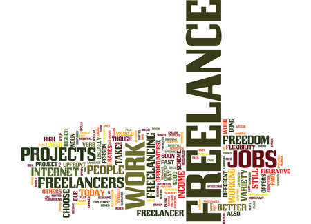 FREELANCE Text Background Word Cloud Concept