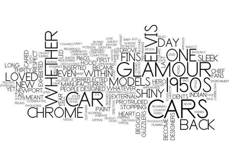 GLAMOUR CARS Text Background Word Cloud Concept Illustration