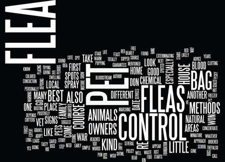 FLEA CONTROL FOR HOME AND PET OWNERS Text Background Word Cloud Concept