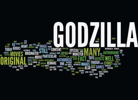 GODZILLA Text Background Word Cloud Concept