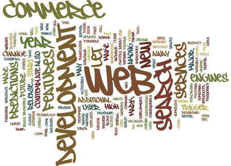 FORETELL WHAT S IN E COMMERCE WEB DEVELOPMENT Text Background Word Cloud Concept