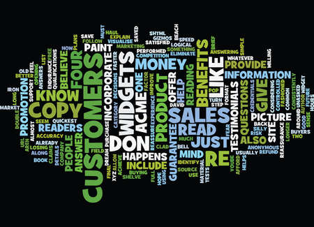 FOUR SIMPLE STEPS TO IMPROVE YOUR SALES COPY Text Background Word Cloud Concept