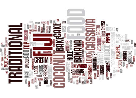 FOOD FROM FIJI Text Background Word Cloud Concept