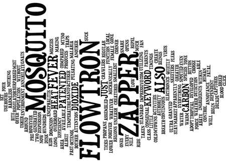 FLOWTRON MOSQUITO ZAPPER Text Background Word Cloud Concept