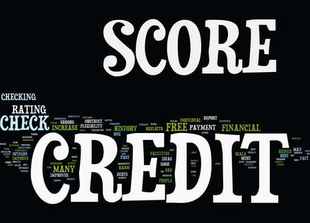 FREE CREDIT SCORE CHECK Text Background Word Cloud Concept 向量圖像