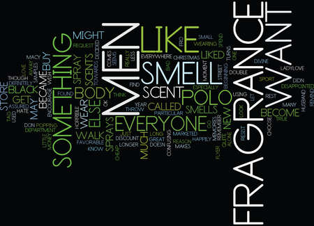 FRAGRANCE FOR MEN Text Background Word Cloud Concept