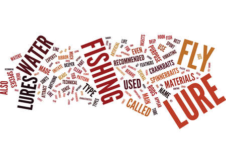FLY LURES Text Background Word Cloud Concept