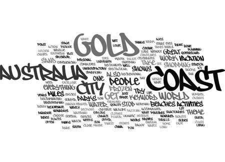 GOLD COAST AUSTRALIA Text Background Word Cloud Concept Ilustrace