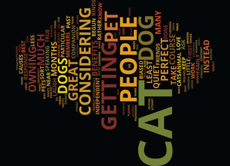 GO FOR A CAT INSTEAD Text Background Word Cloud Concept