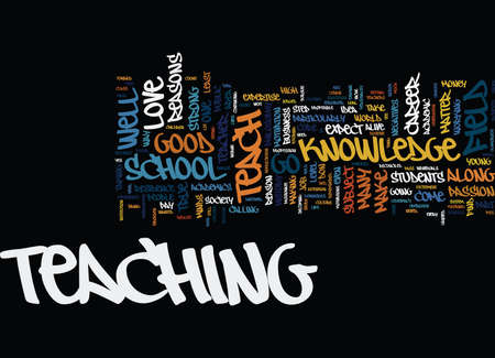 GOOD REASONS TO TEACH Text Background Word Cloud Concept