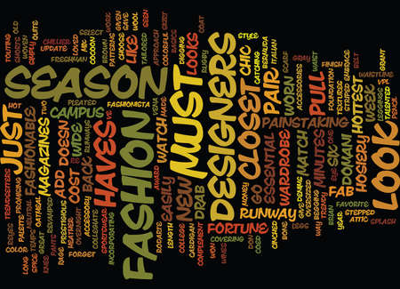 fab: GO FROM DRAB TO FAB WITH THIS SEASON S MUST HAVES Text Background Word Cloud Concept Illustration