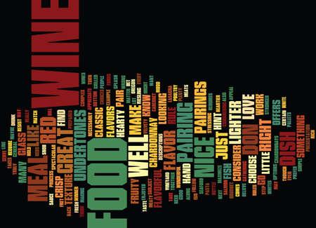 食品とワインのテキスト背景単語クラウド コンセプト
