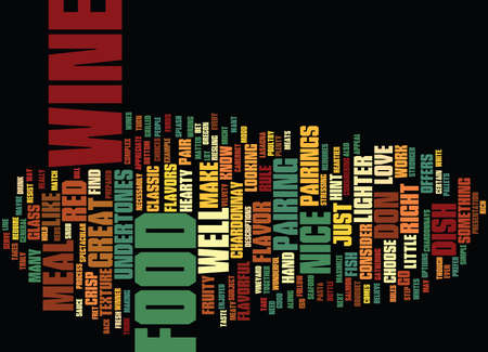 FOOD AND WINE Text Background Word Cloud Concept