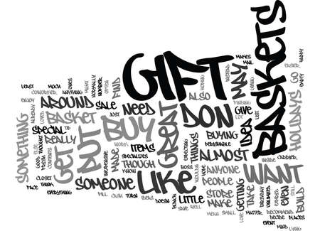GIFT BASKETS Text Background Word Cloud Concept