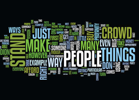 dogma: FIVE WAYS TO STAND OUT FROM THE CROWD Text Background Word Cloud Concept Illustration
