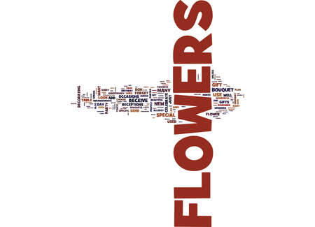 FLOWERS FOR U Text Background Word Cloud Concept