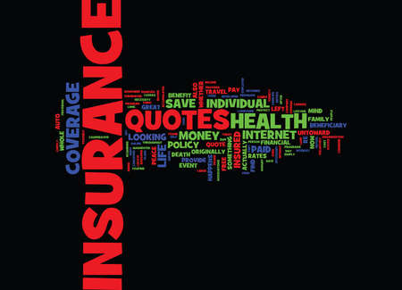 FREE INSURANCE QUOTES TO SAVE YOU MONEY Text Background Word Cloud Concept Ilustrace