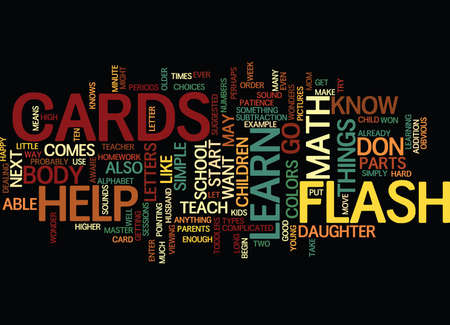 able to learn: FLASH CARDS Text Background Word Cloud Concept
