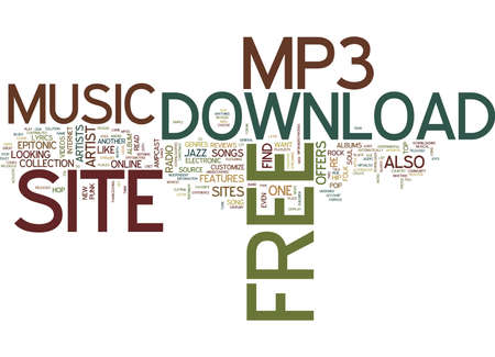 FREE MP DOWNLOAD SITE Text Background Word Cloud Concept