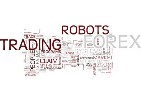 FOREX ROBOT MYTHS Text Background Word Cloud Concept Ilustrace