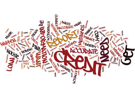 FIX YOUR CREDIT REPORT TO GET A LOAN Text Background Word Cloud Concept Illustration