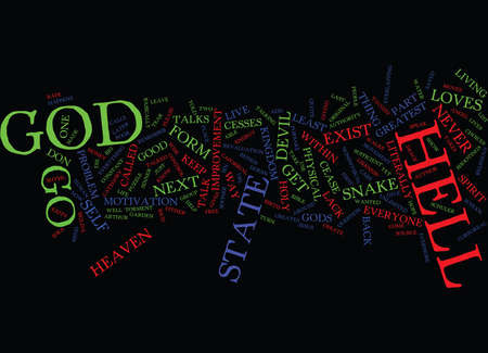 GO TO HELL Text Background Word Cloud Concept