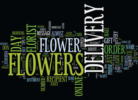 FLOWER DELIVERY Text Background Word Cloud Concept