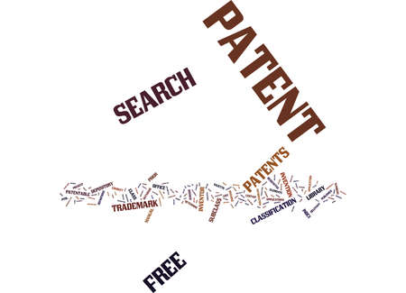 FREE PATENT SEARCH Text Background Word Cloud Concept