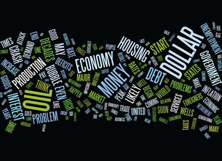 FIVE REASONS THE ECONOMY WILL CRASH AND WILL STAY CRASHED Text Background Word Cloud Concept Illustration