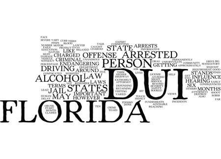 arrests: FLORIDA DUI Text Background Word Cloud Concept