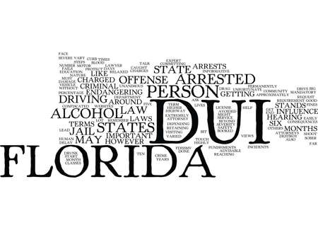 FLORIDA DUI Text Background Word Cloud Concept