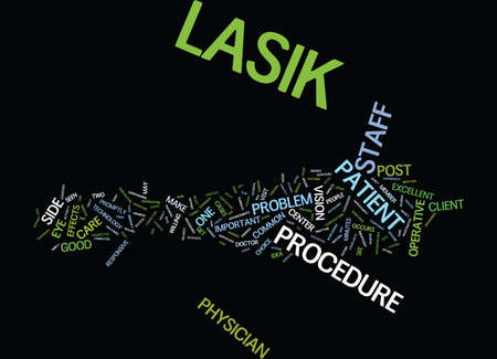 GOOD POST OP LASIK CARE Text Background Word Cloud Concept