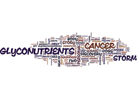 believes: GLYCONUTRIENTS MY PERSONAL STORY Text Background Word Cloud Concept Illustration