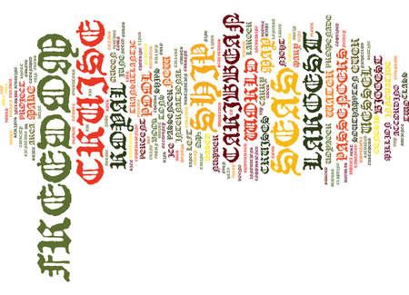 VRIJHEID VAN DE ZEE HET GROOTSTE CRUISE SCHIP OOIT Tekst Achtergrond Word Cloud Concept Stock Illustratie