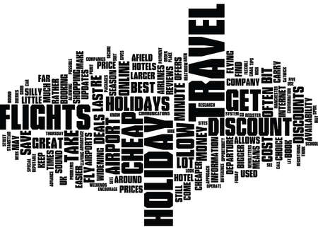 FIVE TIPS FOR LOW COST HOLIDAYS Text Background Word Cloud Concept Illustration