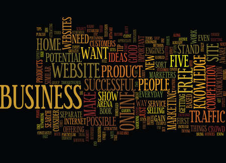 FIVE TIPS FOR SUCCESSFUL WORK AT HOME BUSINESS IDEAS Text Background Word Cloud Concept