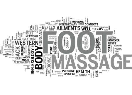 FOOT MASSAGE Text Background Word Cloud Concept 向量圖像