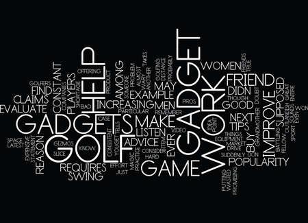 GOLF TIPS WHAT S THE LATEST GADGET Text Background Word Cloud Concept Illusztráció