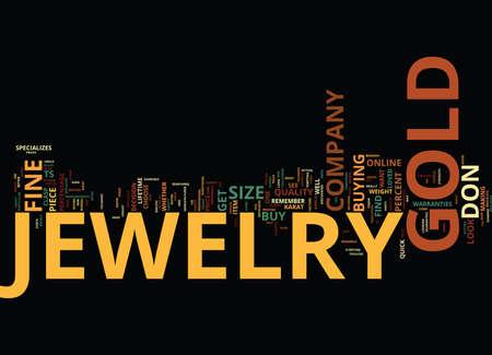 GOLD JEWELRY DO S UND DON TS Text Hintergrund Wort Cloud Concept Standard-Bild - 82596449