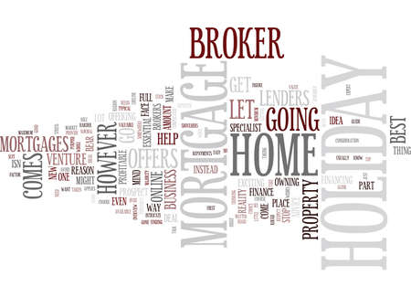 GO ONLINE FOR HOLIDAY HOME MORTGAGE OFFERS Text Background Word Cloud Concept