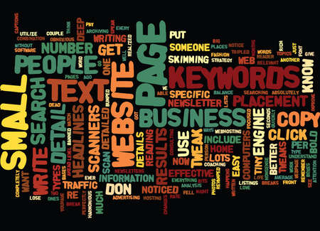 GET YOUR WEBSITE NOTICED WITH EASY TWEAKS Text Background Word Cloud Concept Ilustração