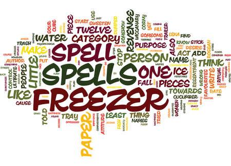 FREEZER SPELLS Text Background Word Cloud Concept