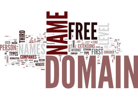 FREE DOMAIN NAMES Text Background Word Cloud Concept Ilustrace