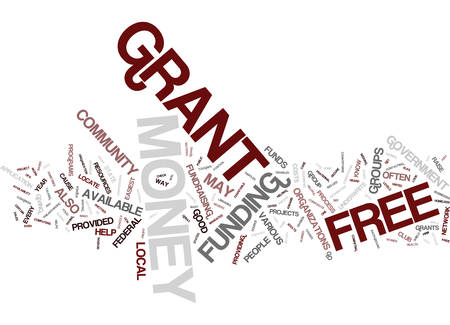 FREE GRANT MONEY Text Background Word Cloud Concept Ilustração