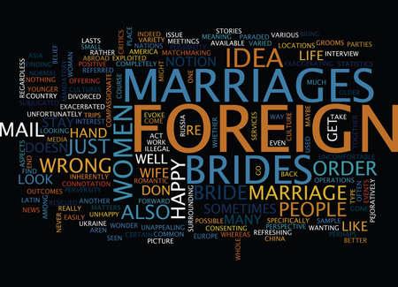 外国人花嫁本文背景単語雲概念
