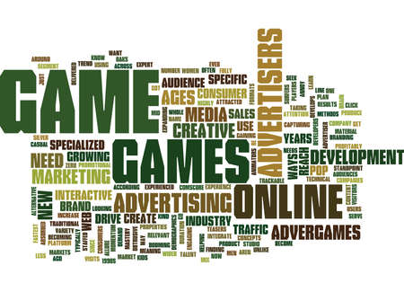 GOT GAME Text Background Word Cloud Concept